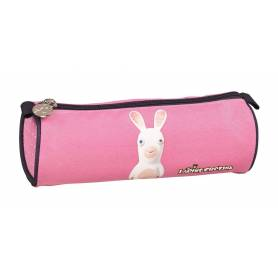 Pencil Case TANN'S double Lou Grey and pink